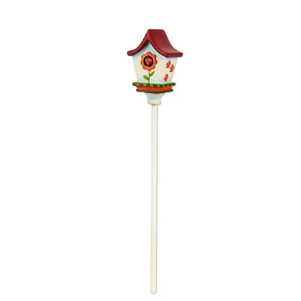 Red Roof Flower Birdhouse - MyFairyGardens.com