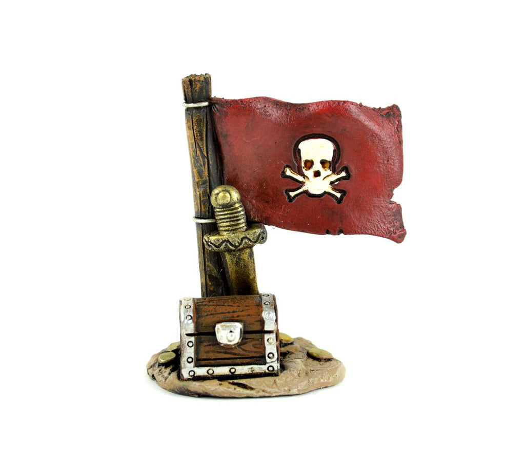 Sea Pirate Flag And Treasure Chest - MyFairyGardens.com