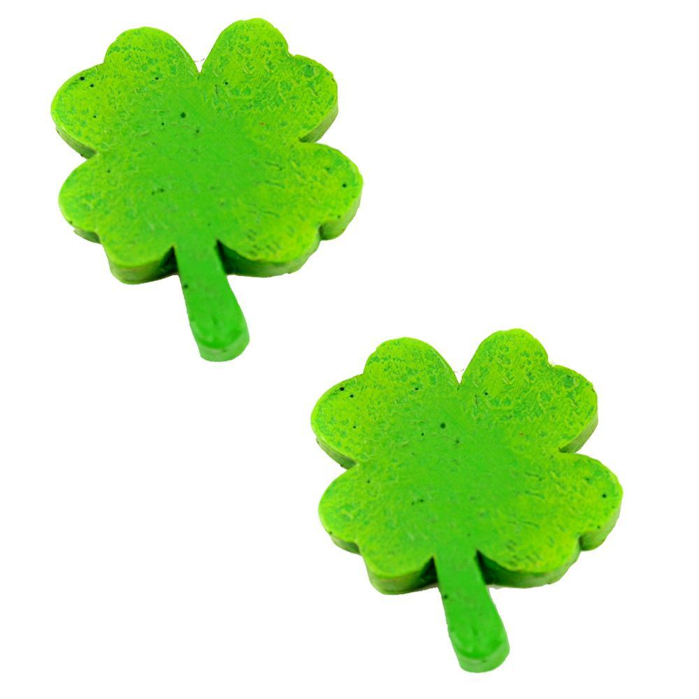 Shamrock Stepping Stones - Set of 2 - MyFairyGardens.com