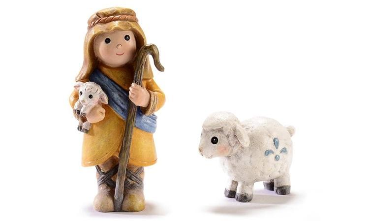 Shepherd and Sheep - MyFairyGardens.com
