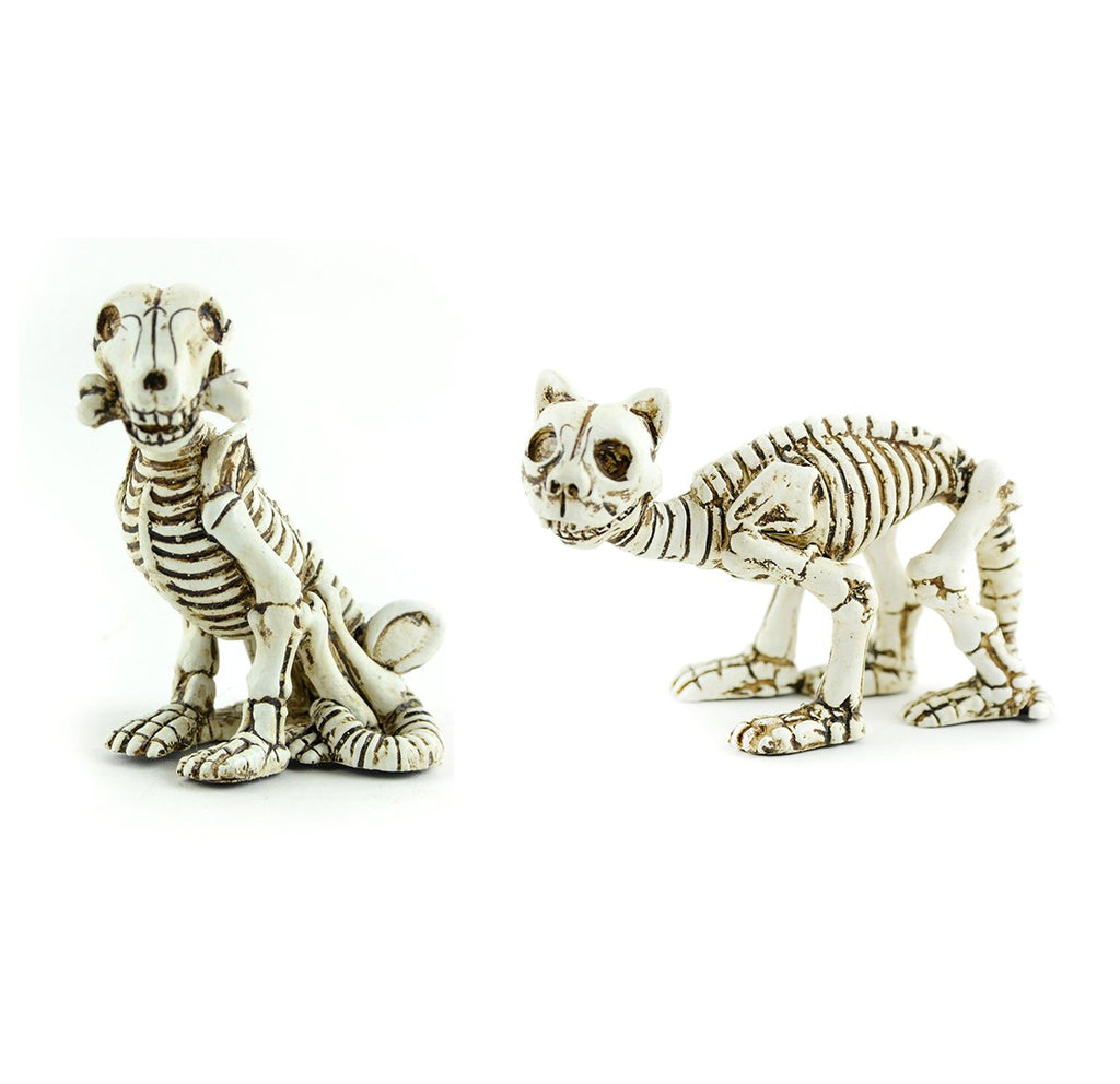 Fairy Garden-Skeleton Cat and Dog-Halloween-Midwest Design-MyFairyGardens