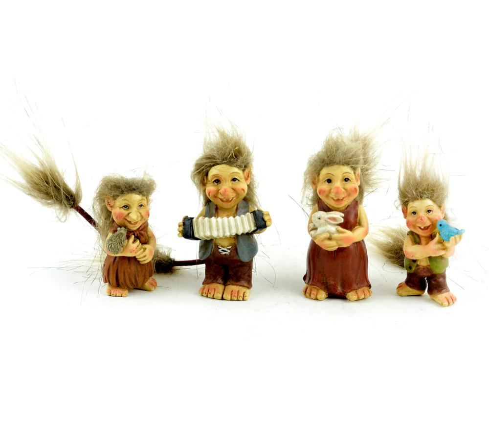 Standing Trolls - Set of 4 - MyFairyGardens.com