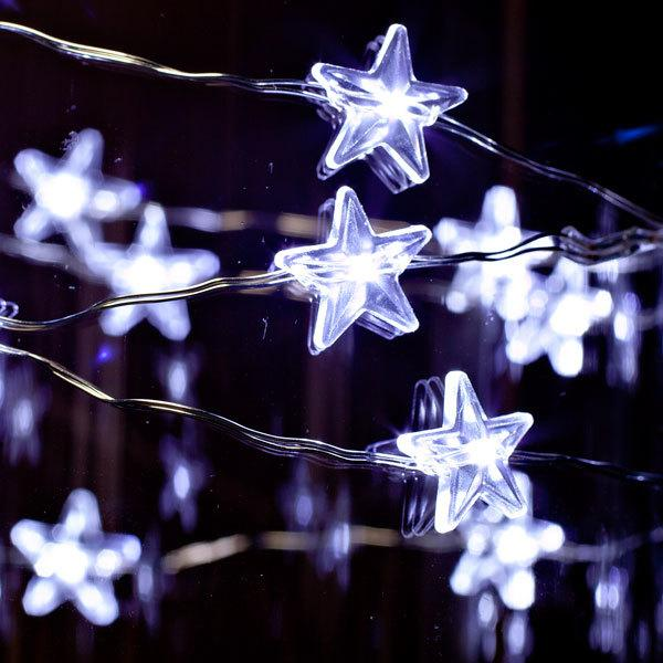 Stars Cool White LED Lights 40 Inches - MyFairyGardens.com