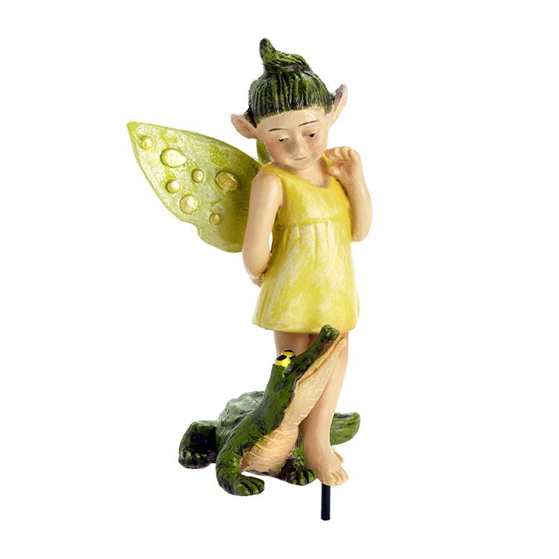 Swamp Fairy - Gretty 'n Gator - MyFairyGardens.com