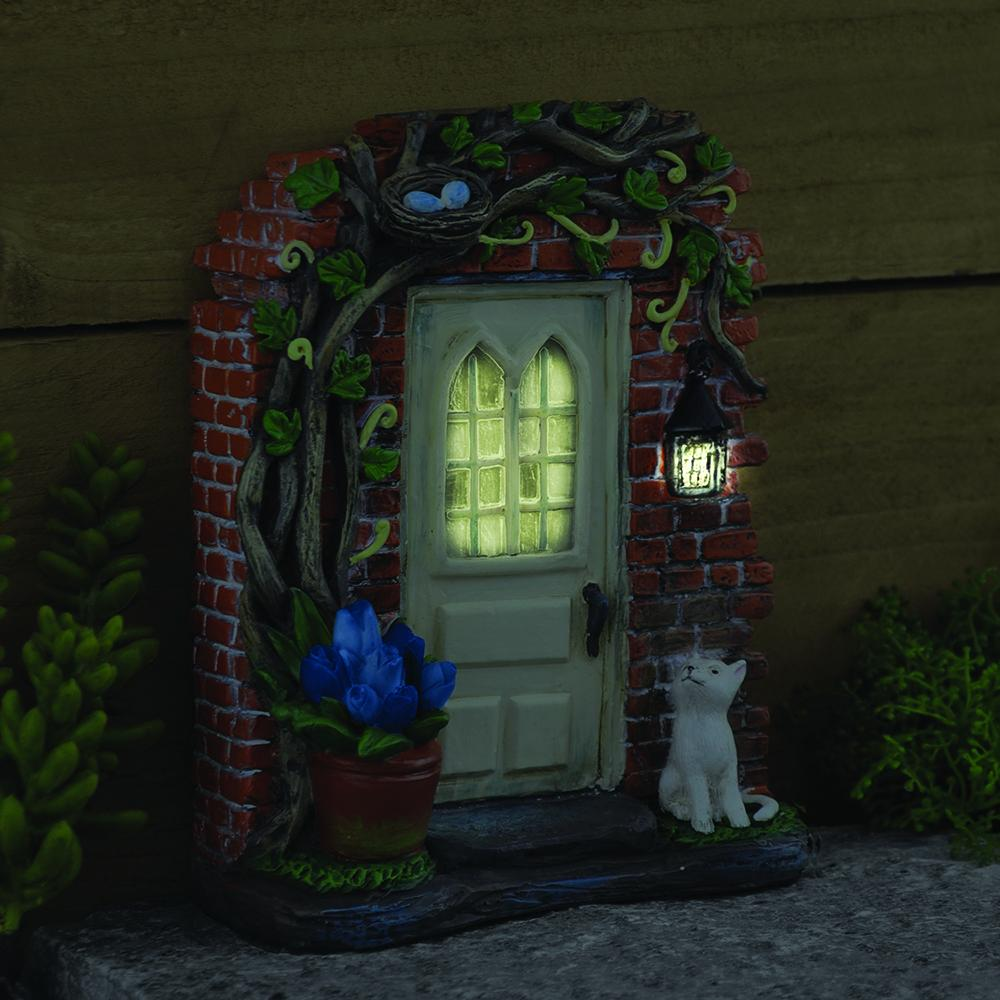 """The Rectory"" Solar Fairy Door - MyFairyGardens.com"