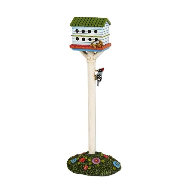 Fairy Garden-White Birdhouse Hotel-Animals-Studio M-MyFairyGardens