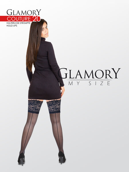 "Lace Back Seam Thigh Highs ""Couture 20"" by Glamory 50315"