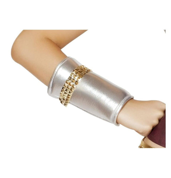 Wrist Cuffs Gold Trim Sexy Hero Costume