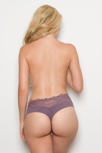 Bliss Thong Panty by Tia Lyn Lingerie iris 9616 Back