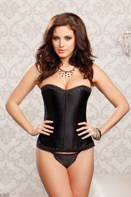 Satin Lace Halter Corset by Escanté Lingerie