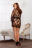 Sheer Lace Robe 7815X-BLAC-B