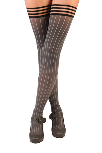 "Pinstripe Thigh Highs - ""Annabelle"" by Kix'ies 1306"