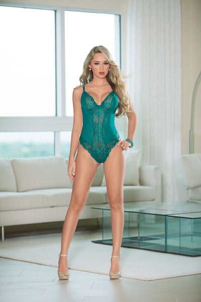 Teal Lace Bodysuit by Escanté 26408F