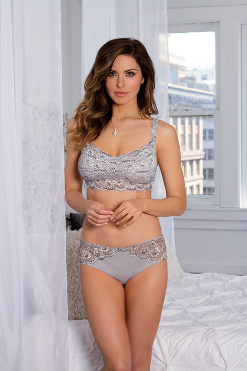 "Soft Bralette ""Euphoria Collection"" by Tia Lyn Lingerie 9101 Grey Small"