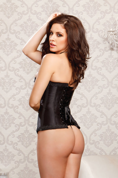Black Side Zipper Corset 7278 i collection
