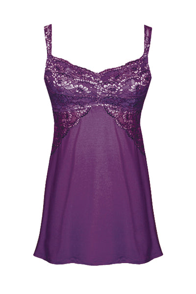 Soft Chemise Euphoria Collection by Tia Lyn Lingerie 9403 plum/purple