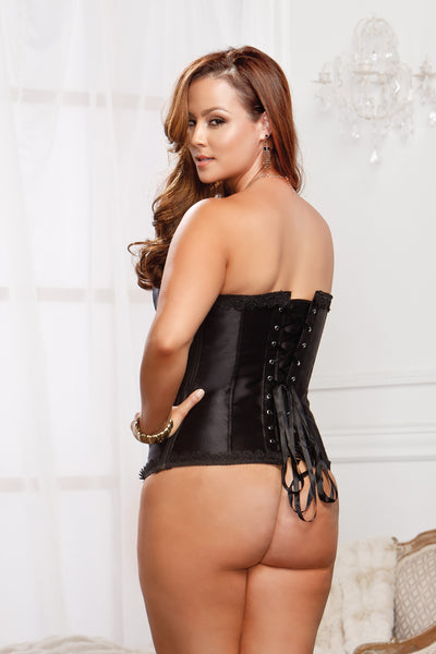 Black Side Zipper Corset 7278 icollection
