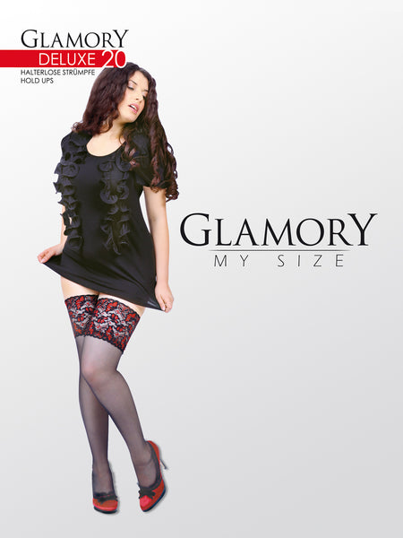 "Lace Thigh High Stockings ""Deluxe 20"" by Glamory 50111"