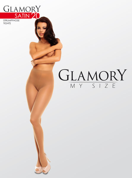 Satin Transparent Tights by Glamory 50122 main