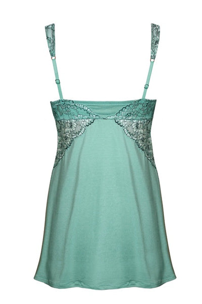 Soft Chemise Euphoria Collection by Tia Lyn Lingerie 9403 mint back