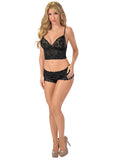 Classic Lace Cami Set Escante Lingerie 5616 Black