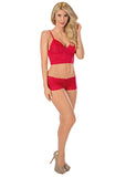 Classic Lace Cami Set Escante Lingerie 5616 Red