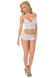 Classic Lace Cami Set by Escante Lingerie 5616 white