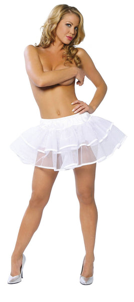 Doubled Layered Petticoat White Roma 1600