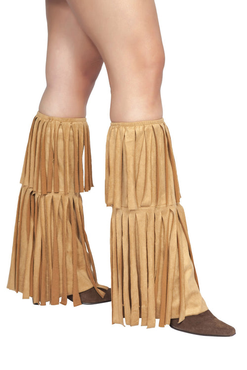 Women's Sexy Hippie Fringed Boot Covers Roma L4209