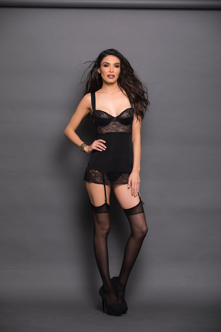 Halter Neck Lace Teddy