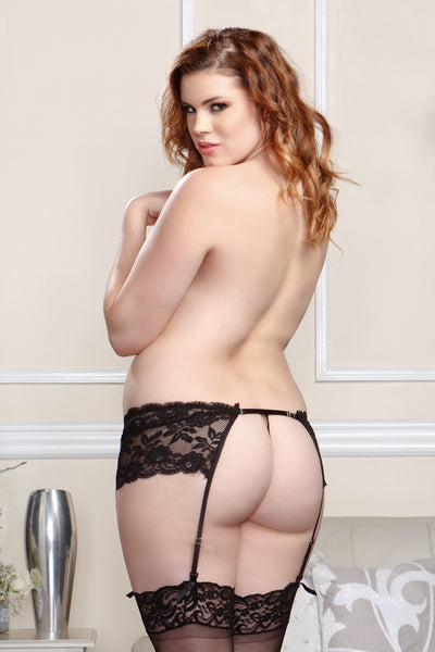 Black Lace Garter Belt