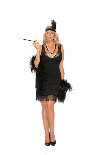 Classic Flapper Costume Elegant Moments Plus Size 99051