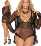 Sheer Teddy Robe Plus Size Elegant Moments 44007