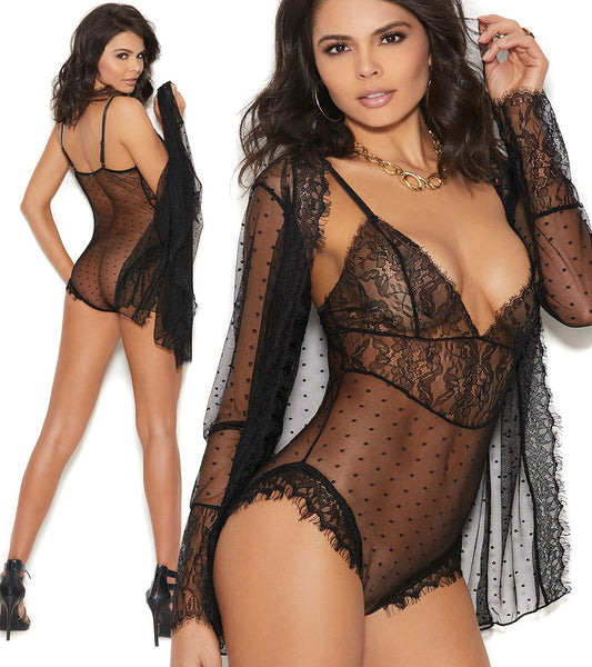 Sheer Teddy Robe Elegant Moments 44007
