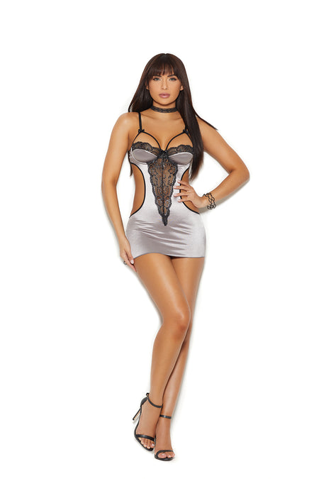 Peek A Boo Chemise by iCollection Lingerie