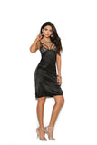 Black Strappy Satin Nightgown