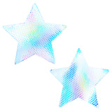 Holographic star pasties waterproof nipztix