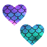 mermaid heart pasties nipztix waterproof