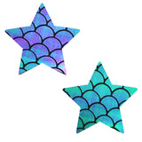 mermaid star pasties nipztix waterproof