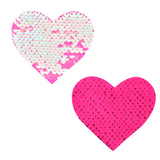 sequin heart pasties waterproof nipztix 2