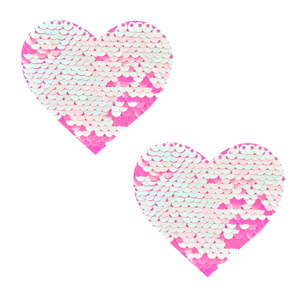 sequin heart pasties waterproof nipztix 3