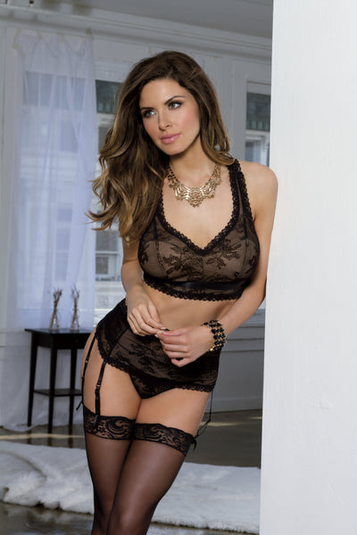 Black Lace Thong Tia Lyn 9623