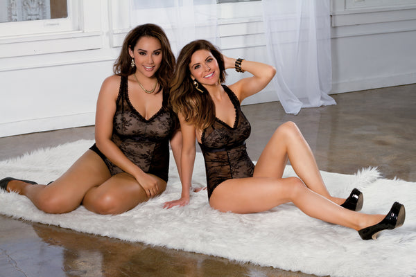 Black Lace Teddy Tia Lyn Lingerie 9802-DOUBLE