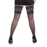 Lace Back Seam Thigh Highs