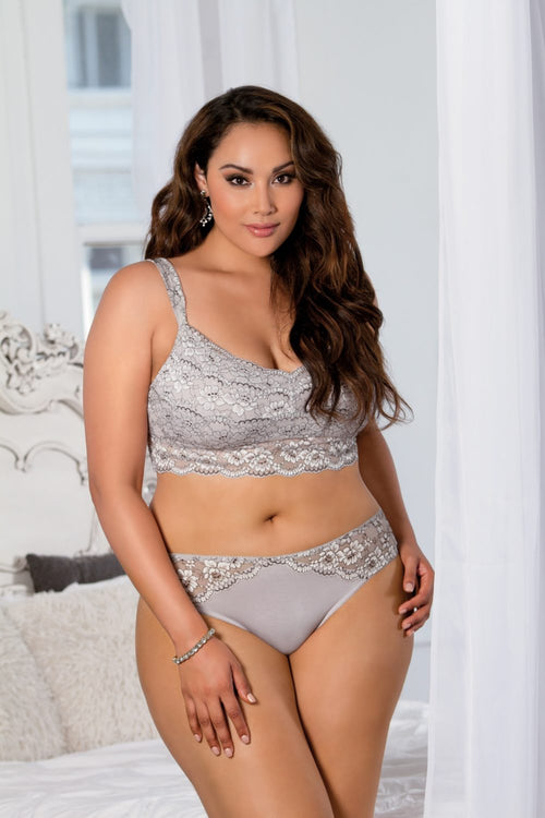 "Soft Bralette ""Euphoria Collection"" by Tia Lyn Lingerie 9101 Grey"