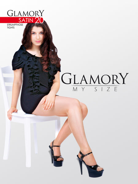 Satin Transparent Tights by Glamory 50122