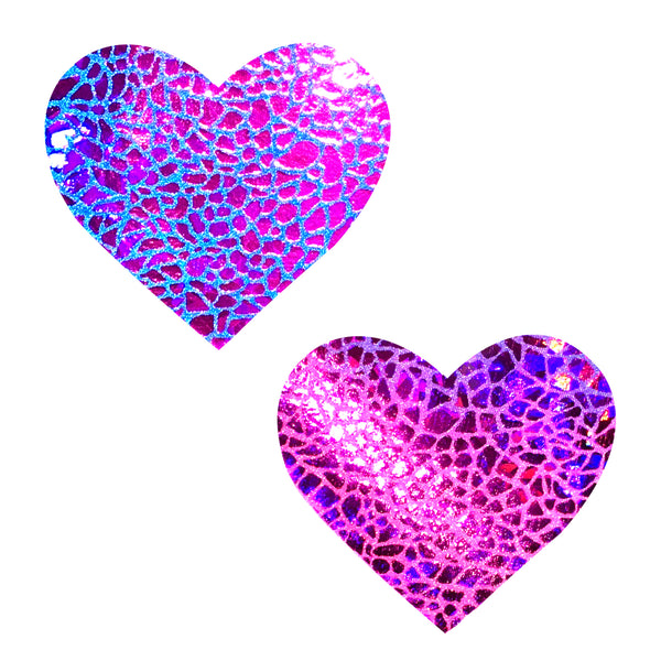 Pink Heart Hologram waterproof Pasties