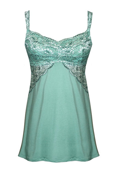 Soft Chemise Euphoria Collection by Tia Lyn Lingerie 9403 mint front