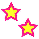 Neon Double Star Waterproof Pasties Nipztix