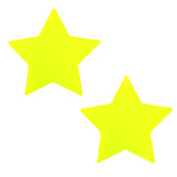 Neon Yellow Star Pasties Waterproof Nipztix